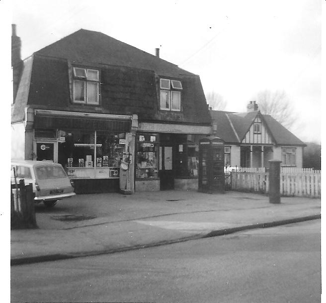 The bungalow 'Yardley' built in the 1930s with North Parade Post Office on the left (1950/60s).