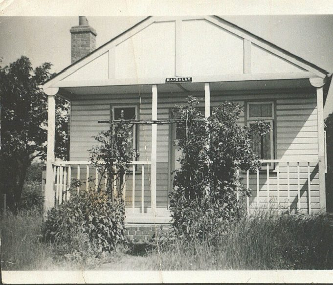 My mum and dad's (Mr & Mrs Jones) little plotland house called Mandalay, Third Avenue