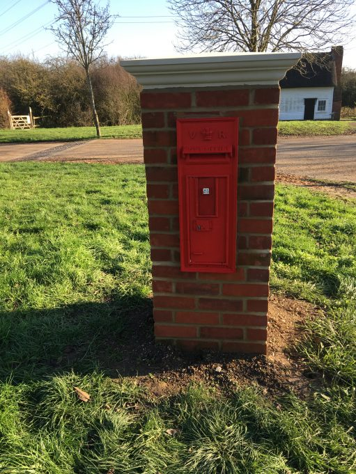 Post Box in its new position at Wat Tyler park