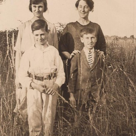Lilly, her mother Florence and brothers Victor and Bertie. Langdon Hills 1923.
