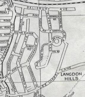 Map showing Russell Road.