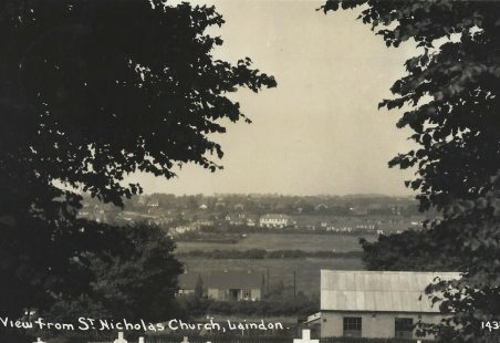 A view west of St Nicholas Church 1930's.