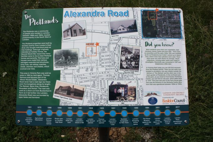 Newly installed lectern commemorating Alexandra Road.