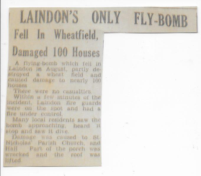 Local Newspaper report October 1944