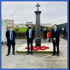 Laindon War memorial - Remembrance Sunday November 2020