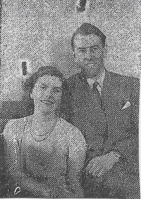 Don and Mary Blackford - photograph from the paper