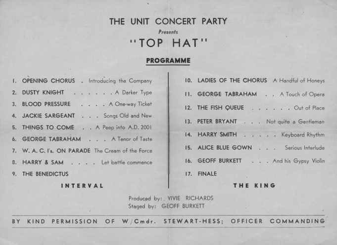 John Sargeant's Unit Concert Party appearance