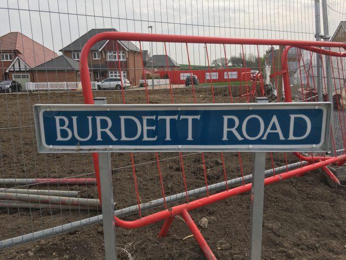 Dry Street Development - Road Names - Burdett Road