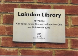 Plaque in Library