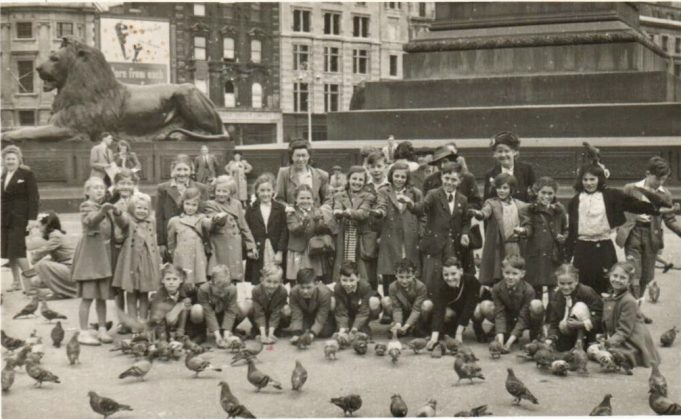 Little Burstead school outing to London circa 1946-47. Me front row third from left.