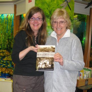 Nina on the right with Deanna Walker during a book launch at the EWT Dunton visitors' centre.