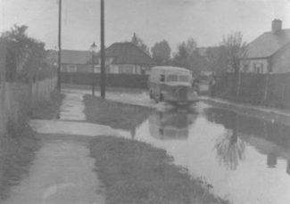 Laindon Floods at Grant-Best Ltd Durham Rd 1955